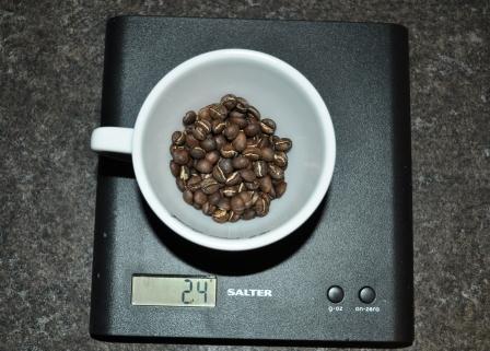 24g of Yirgachefe beans