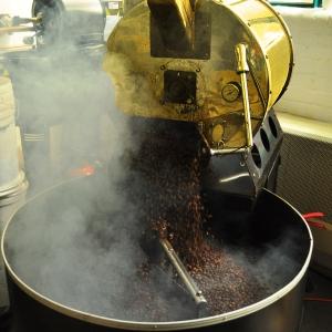 smoke and coffee beans