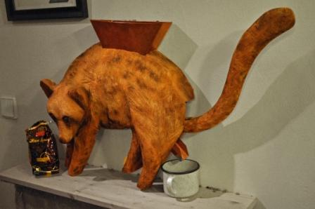 Model of civet for coffee