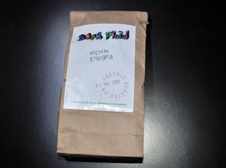 Coffee beans from Dark Fluid roasters