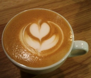 Coffee with tulip