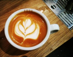 Flat white with Latte Art
